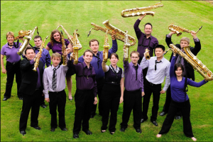the siskiyou saxophone orchestra from spring 2011